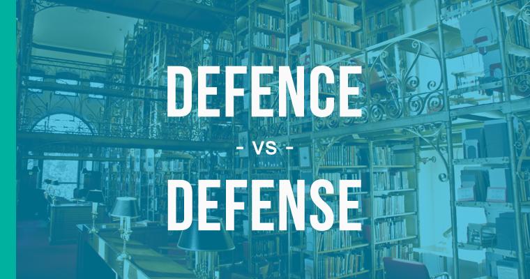 defence versus defense