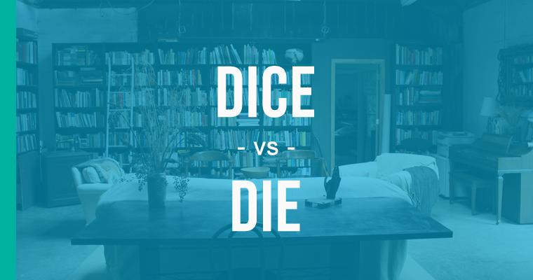 dice versus die
