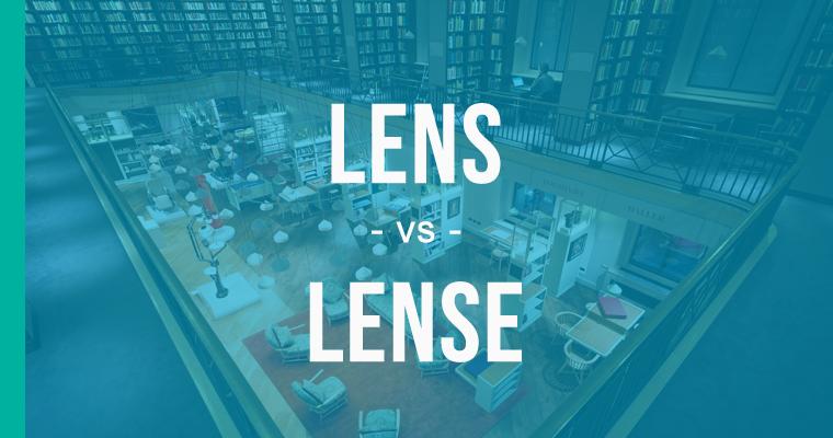 lense versus lens