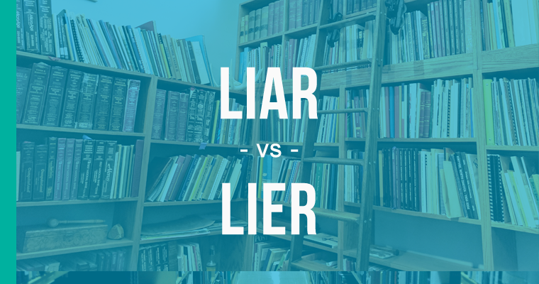 difference between lier and liar