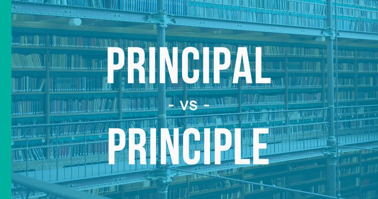 principal versus principle